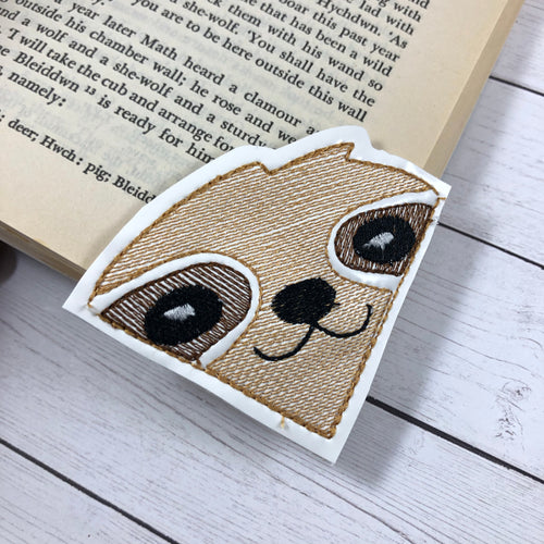 Sloth Corner Bookmark Design