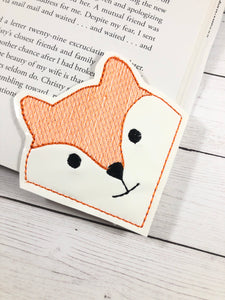 Fox Corner Bookmark Design