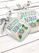 Blessed Mama Tag 5x7 and 4x4 In The Hoop (ITH) Embroidery Design