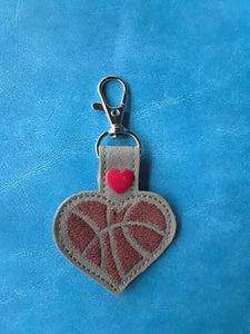 Basketball Heart Snap Tab
