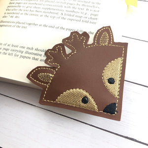 Deer Corner Bookmark Design