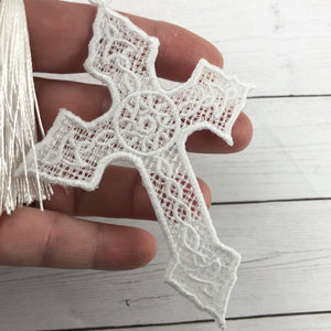 Celtic Cross Freestanding Lace Bookmark for 4x4 hoops