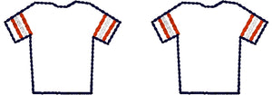 Football Jersey Earrings embroidery design