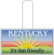 Kentucky Plate Embroidery Snap Tab
