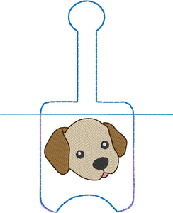 Lab Puppy Hand Sanitizer Holder Snap Tab Version In the Hoop Embroidery Project 1 oz BBW for 5x7 hoops