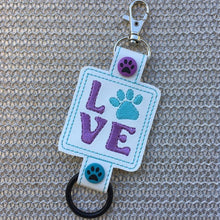Paw Print Love Water Bottle Holder Double Snap Tab