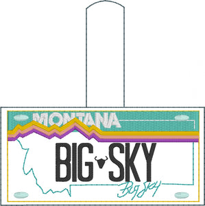 Montana Plate Embroidery Snap Tab