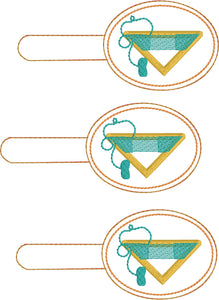 Continuous Weaving Triangle Loom snap tab In the Hoop embroidery design