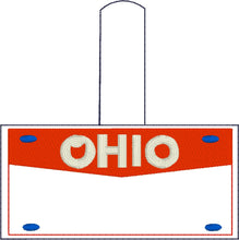 Ohio Plate Embroidery Snap Tab