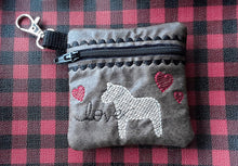 Sweet Horse Zipper Pouch 4x4