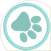 Paw Print Corner Bookmark Design