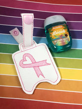 4x4 Awareness Ribbon Themed Hand Sanitizer Holder Snap Tab In the Hoop Embroidery Project