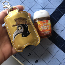 Plague Doctor Hand Sanitizer Holder Snap Tab Version In the Hoop Embroidery Project 1 oz BBW for 5x7 hoops