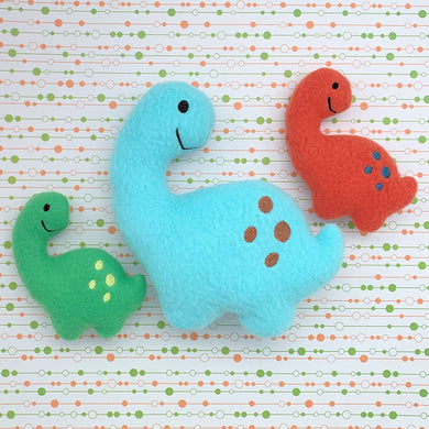 Brontosaurus Dinosaur Stuffie Stuffed Animal In the Hoop Embroidery Design