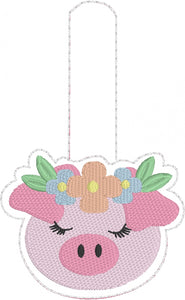 Pretty Piggy Snap Tab for 4x4 and 5x7 hoops