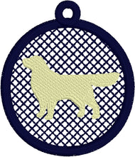 Golden Retriever Lace Pendant for 4x4 hoops