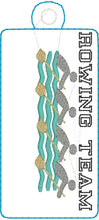 ROWING TEAM Snap Tab and Eyelet Tag Design