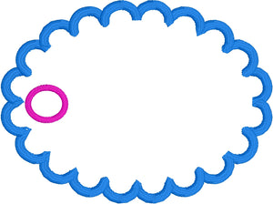 Blank Oval Tag 2 Styles 4x4 Friendly
