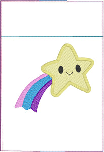 Shooting Star Pen Pocket In The Hoop (ITH) Embroidery Design