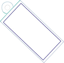 Blank Side Eyelet Rectangle Tag 4x4 Friendly