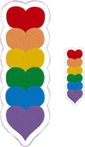 Rainbow Hearts Bookmark Band and Coordinating Feltie Design