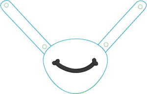 Stethoscope Yoke In the Hoop Snap Tab Project Smile