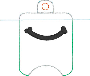 Smile Hand Sanitizer Holder Eyelet Version In the Hoop Embroidery Project 1 oz BBW for 4x4 hoops