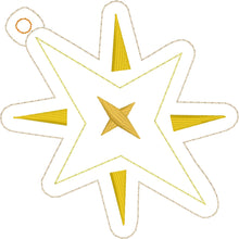 Shining Star Christmas Ornament for 4x4 hoops