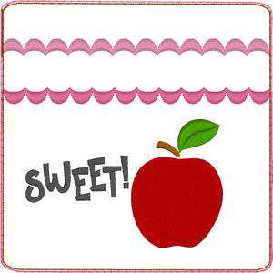 Sweet Apple Zipper Pouch 4x4
