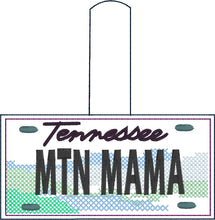 Tennessee Plate Embroidery Snap Tab