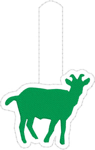 Tiny Goat snap tab embroidery design