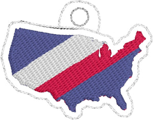 Tiny USA Eyelet Tag Design
