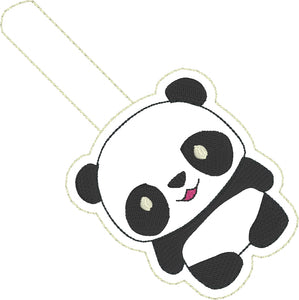 Panda Bear snap tab for 4x4 hoops