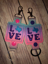 Texas Love Water Bottle Holder Double Snap Tab