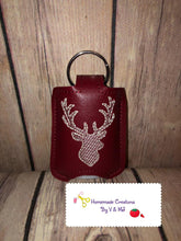 Deer Head Hand Sanitizer Holder Snap Tab Version In the Hoop Embroidery Project 1 oz BBW for 5x7 hoops