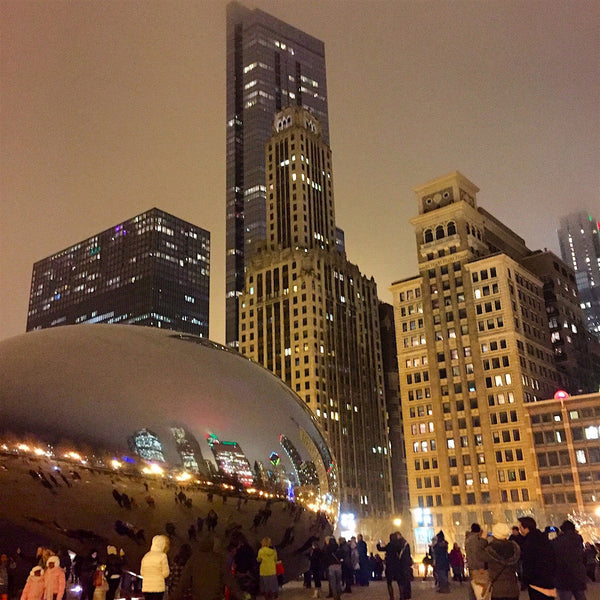 Cloudy Night at Cloud Gate