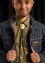 calinY Brown Leather Bolo Tie
