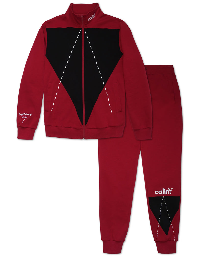 legendary stuff tracksuit - red.