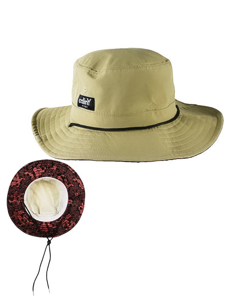 safari bucket - black/red dragon.