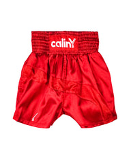 boxing inspired shorts - red.