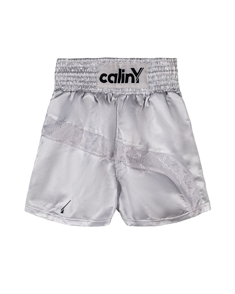 boxing inspired shorts - white.