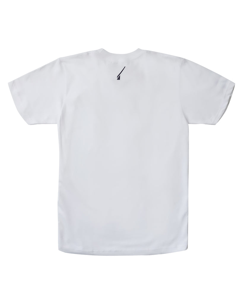 logo sticker tee - white.