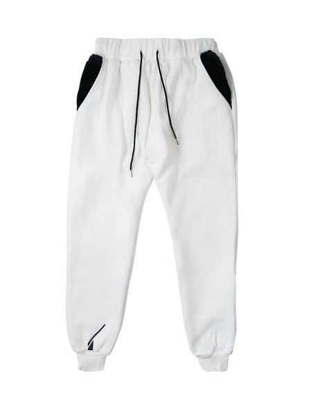 NFS sweatpants - white/black.