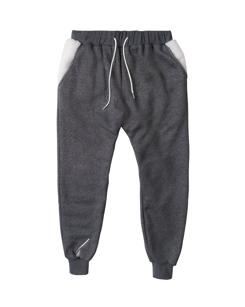 NFS sweatpants - heather grey/white.