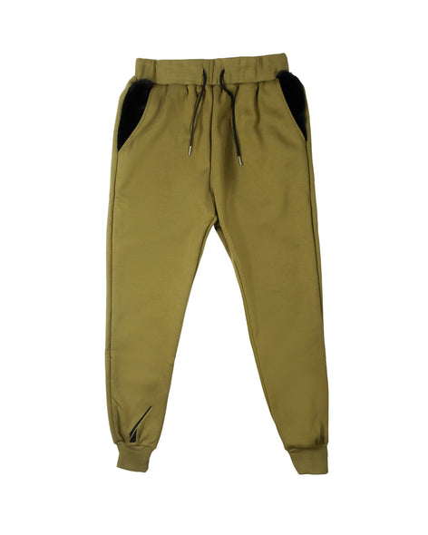 NFS sweatpants - cammo green/black.
