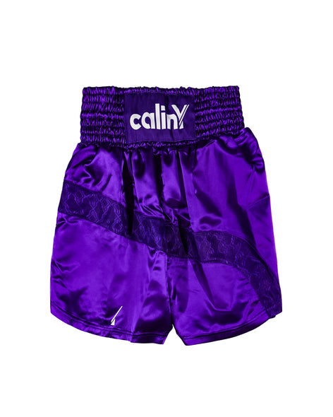 boxing inspired shorts - purple.