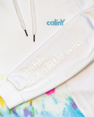 stable, but a little wild hoodie - white/multicolor.