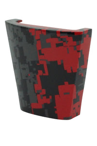calinY Cpiece red and black digital camouflage