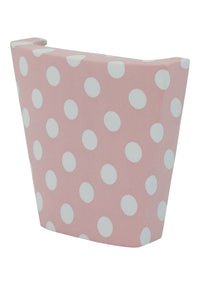 calinY Cpiece pink polka dot