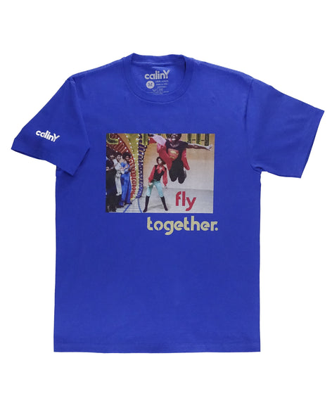 fly together tee - blue.